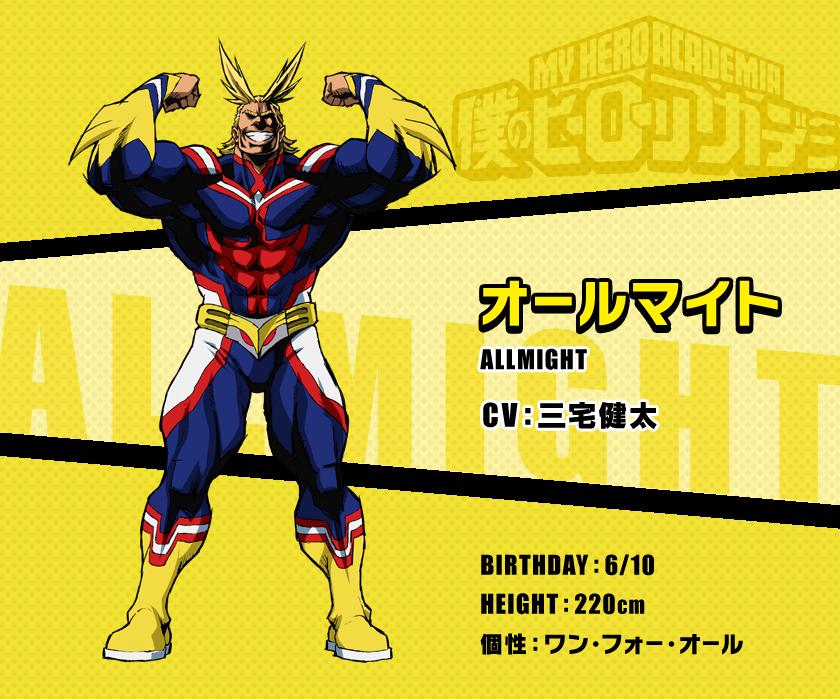 スーパーヒーローのオールマイト。出典:『僕のヒーローアカデミア』