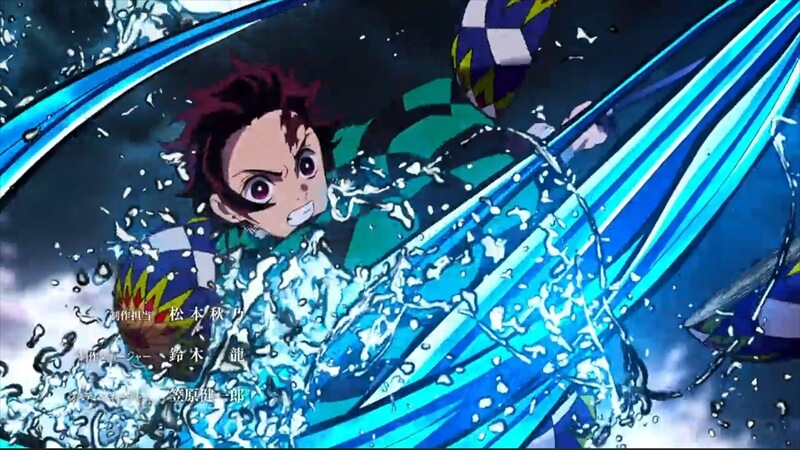 水の表現がめちゃめちゃかっこいい。引用:吾峠呼世晴/集英社『鬼滅の刃』